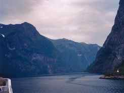 Naeroyfjorden from the ferry
