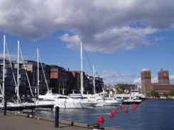 Oslo City Hall from Aker Brygge