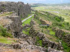 Pingvellir - Site of ancient conventions and where continental plates pull apart