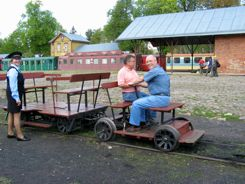Playing like kids with rail handcars Lithuania - that's independent travel