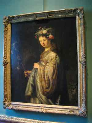 Flora by Rembrandt in the Hermitage Museum, St Petersburg