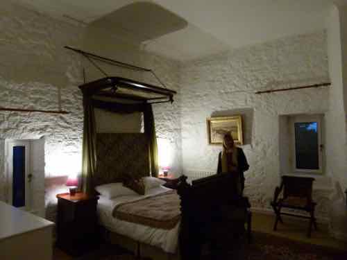 Ross Castle tower room at night
