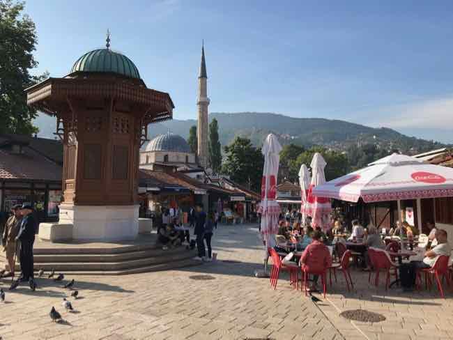 Bascarsija Square, Sarajevo, Bosnia and Herzegovina