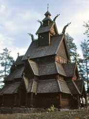 Stave Church at Norsk Folk Museum Oslo