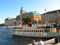 Djurgarden ferries and hop on hop off boats