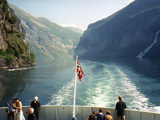 Norway-Ferry on Geiranger Fjord