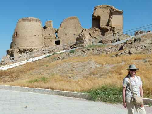 Ruins of 15th century Anau Mosque, Turkmenistan