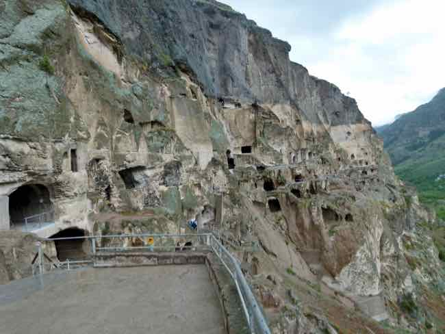 Vardzia Cave City close view
