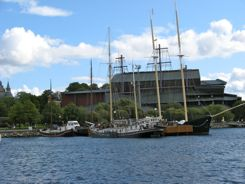 Vasa Museum (the buidling on the hill)  Stockholm