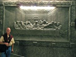 Wieliczka Salt Mine Cracow Poland - The Last Supper In Salt!