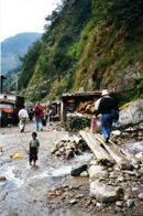 Remote border crossing Nepal - Over the River and Through the Woods...