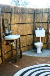 Tented camp bathrooms good for birdwatching