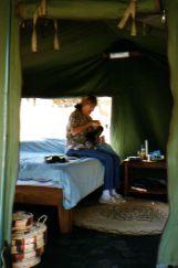 Kakuli Camp Zambia tent interior