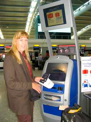 Kiosh check-in LHR international departures