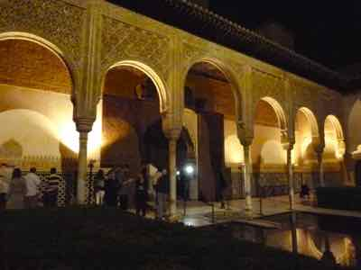Alhambra glows at night