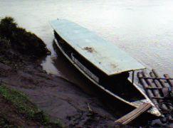 Cruising the Rio Tambopata in the Amazon Basin