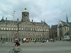 The Royal Palace is on Dam Square