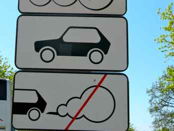 Amusing Roadsigns - No smoking cars?  Cars should not have gas?  So to speak...