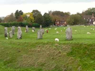 You share the Avebury Stone Circle with sheep