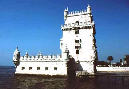 The Belem Tower guards Lisbon's harbor