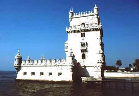 The Belem Tower guards Lisbon's harbor
