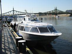 Boarding in Budapest to Hydrofoil the Danube