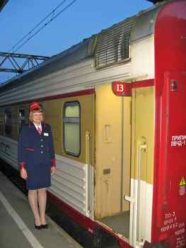 Boarding the Grand Express Train in St. Petersburg