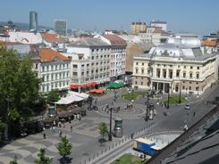 Bratislava - Square just off the Danube