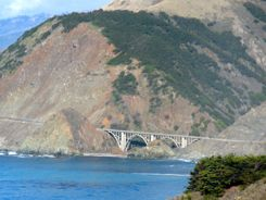 Bridges and Chaparral along the Big Sur Highway