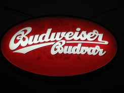 Budweiser-Budvar sign