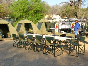 Our camping tents in Kruger National Park South Africa