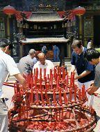 Candles at Big Goose Pagoda