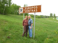 Center of Europe sign, Lithuania