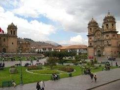 Cusco, Peru - Churches on the Plaza de Armas