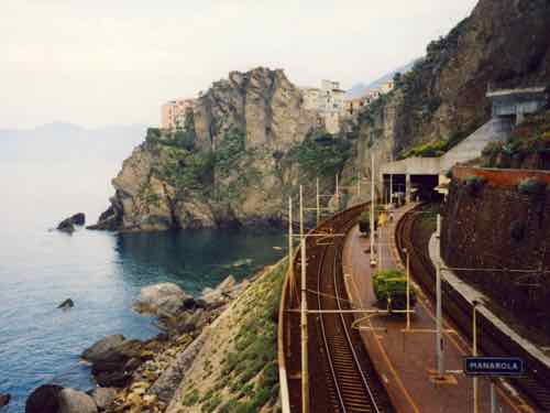 Cinque Terre Train Station in Manarola