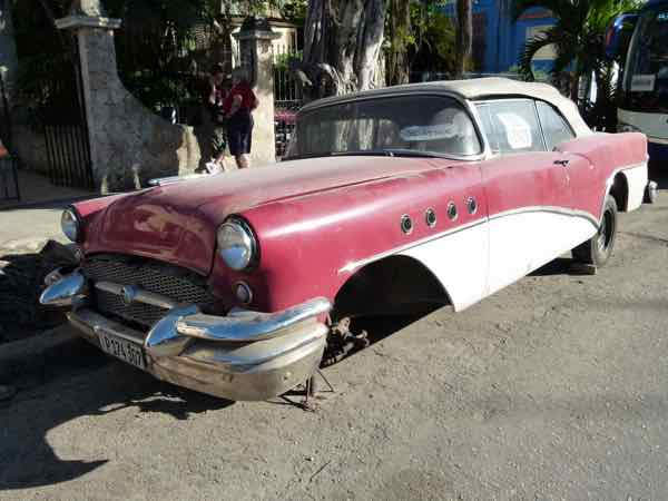 Some classic cars in Havana don't even run