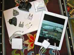Laptops, iPads, battery chargers may need adaptors