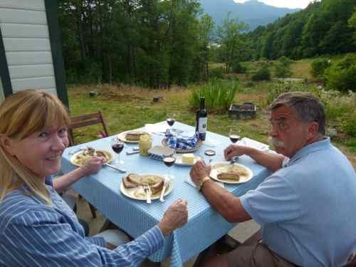 Dinner overlooking the Hardangerfjord