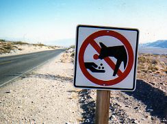 International warning sign - coyotes