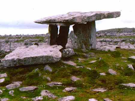 Dolmen on the Burren in Ireland