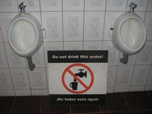 You'd better believe we won't drink THIS water!