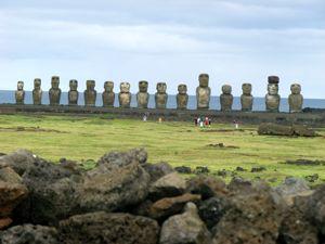 Moai of Tongariki on Rapa Nui (Easter Island)