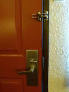 Hotel door locks are there for your safety