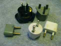 Travelers need electrical adaptor plugs