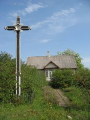 Farmyard cross, Lithuania