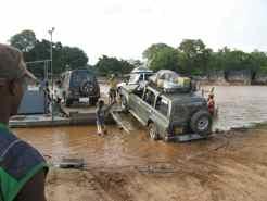 Ferry across the Manambolo River Madagascar