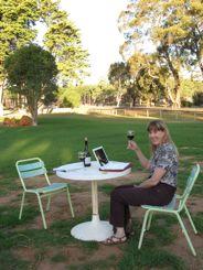 Wifi in Australia with a glass of Shiraz!
