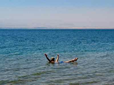 Great travel - Floating in the Dead Sea