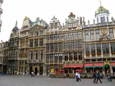 Guild building on the Grand Place Brussels