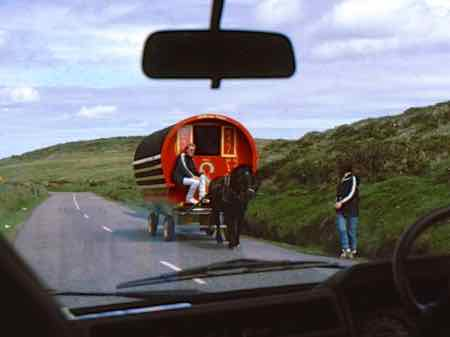 Horse cart are available for rent in Ireland.